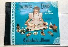 "Vintage Hallmark ""Dolls of the Nations"" Collector's Album 1948 w envelope"