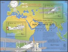 Macau 1999 Pilots/Flight/Planes/Aircraft/Aviation/Transport GOLD o/p 2v m/s b503