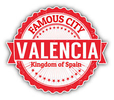 "Valencia City Spain Grunge Travel Stamp Car Bumper Sticker Decal 5"" x 4"""