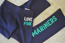 Victoria's Secret love pink sweatpants pants vintage flare seattle mariners S