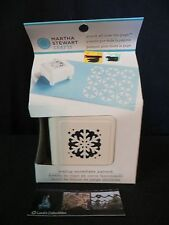 Martha Stewart scallop snowflake pattern punch all over the page art scrapbook