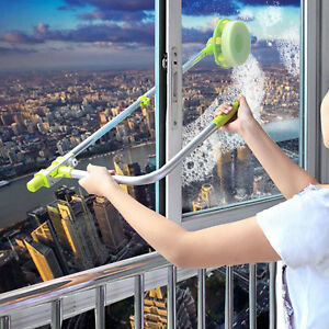 U-TYPE TELESCOPIC HIGH RISE WINDOW CLEANER GLASS DUST CLEANING BRUSH SQUEEGEE
