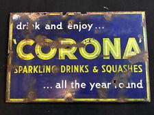 More details for original vintage corona soft drinks sign 60's / 70's