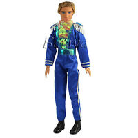 Barwa Prince Clothes Formal Outfits with High Boots for Barbie Boy Doll