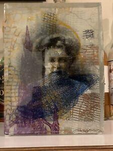 Jeffrey Sarmiento Encyclopedia V.X Amazing screenprinted and kilnformed glass