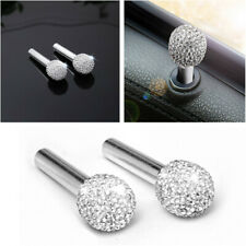 Bling Universal 2x Car Door Interior Lock Knob Handle Pin Decoration Button Trim