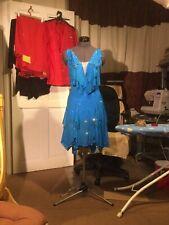 """Vestido de baile Salón de baile latino competencia/""""azul fantasía"""""""