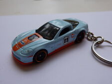Hot Wheels 2009 Gulf Corvette Stingray ZR-1 Coupe Keychain Keyring Keyfob