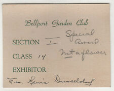 1930s BELLPORT GARDEN CLUB Card LONG ISLAND New York DUSSELDORF Brookhaven NY