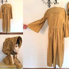 Pioneer Costume Prairie Dress with Bonnet - Work Trek Dress Plus 38� Waist
