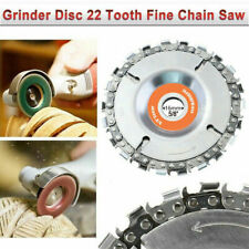 """4"""" Grinder Disc 22 Tooth Fine Chain Saw Angle Carving Culpting Wood 100/115mm"""