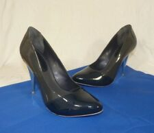 Womens Aldo Blue Grey Gray High Heeled Leather Court Shoes Size UK 3 EU 36