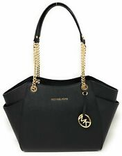 Michael Kors Jet Set Saffiano Shoulder Tote Bag, Large - Black