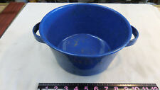 "VINTAGE BLUE SPECKLED ENAMELWARE 9.5"" Pan With Handles"