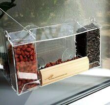 Clear acrylic window mount bird feeder, Wild bird seed feeder, Great grandparent