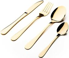 Sabichi Glamour 16 Piece Stainless Steel Gold Cutlery Set. Gift Boxed.