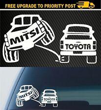 MITSUBISHI TRITON UTE 4x4 4wd funny OFF ROAD sticker decal