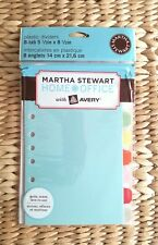 NEW ~ Martha Stewart w/ Avery Home Office Plastic Dividers ~ 8-tab 5-1/2 x 8-1/2