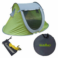 Summit Hydrahalt 3 Person Pop Up Tent Camping and Outdoor Sleeping Gear - Green