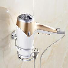 Support Sèche-cheveux Porte-séchoir Mural Aluminium Rangement pr Salle de bains