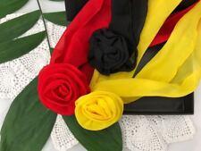 Red Yellow & Black FlowerClip Scarf woman belt headband neck hair 3PCS in BOX