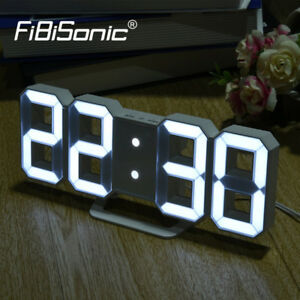 BIG NUMBERS LED Digital Alarm Clock Electronic Desk Table Watch Large Digits