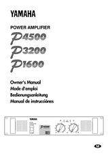 Yamaha P-1600 Amplifier Owners Manual