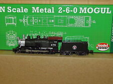 New ListingN Scale Metal Usra 2-6-0 Mogul Gn, Analog Dc New Dcc Compatible 87604