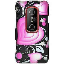 NEW RUBBERIZED 3D LOVE DESIGN HARD SHELL CASE COVER FOR HTC EVO 3D, HTC EVO V 4G