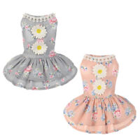 Pet Small Puppy Dog Tutu Dress Lace Skirt Cat Princess Dress Clothes Apparel NEW
