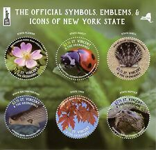 St Vincent & Grenadines 2016 MNH Symbols Icons New York NY2016 6v M/S Stamps