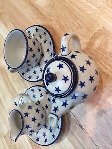 Polish Pottery Tea Set Brand New