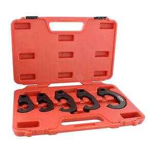 ABN | 5 Pc Tie Rod Adjusting Tool Kit and Pitman Arm Puller Kit Adjusting Set