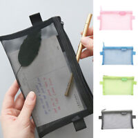 Pen Pencil Case Zip Stationery Pouch Makeup Bags Storage Tools Transparent  Gift