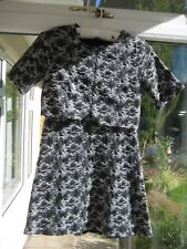 Top Shop Black/Grey Textured Dress UK 6 Petite BNWOT