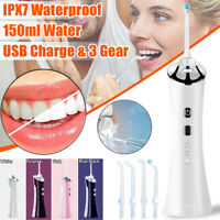 Electric Water Flosser Cordless Portable Dental Oral Irrigator Tooth Clean