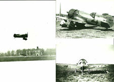 "LOT OF 3: GEE BEE #4 BLACK & WHITE 4"" X 6"" AIRPLANE PRINTS"