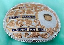 VTG GIST STERLING 1990 ACTRA WASHINGTON STATE CHAMPION COWBOY TROPHY BELT BUCKLE