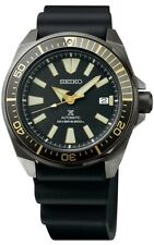 NEW SEIKO PROSPEX SEA AUTOMATIC DIVERS BLACK RUBBER GUNMETAL CASE  SRPB55