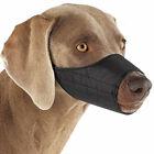 Black Nylon Dog Muzzles Premium Nylon Adjustable Safety Pet Handling Choose Size