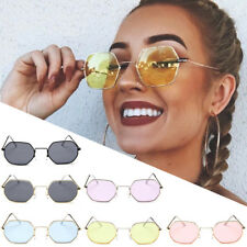 New Hexagon Metal Frame Sunglasses Vintage Square Women Sunglasses Fashion Shade