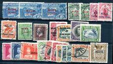 NIUE 1902-1944 gestempeltes Lot mit 10 etc (J9540