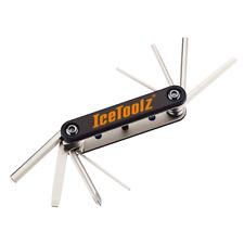 Bike Bicycle T-9x10x15x20x25x27x30x40 Star Key IceToolz 97T1 Star-8 Multi Tool