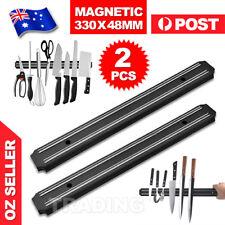 2X Magnet Wall Mount Knife Holder Utensil Magnetic Shelf Rack Kitchen Tool NEW