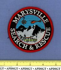 MARYSVILLE SEARCH & RESCUE SAR CALIFORNIA Sheriff Police Patch HELICOPTER