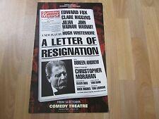 Edward FOX in a LETTER of RESIGNATION Original COMEDY Theatre Poster