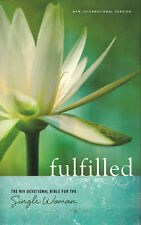 NEW Hardcover! Fulfilled: NIV Devotional Bible for the Single Woman - Zondervan
