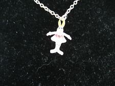 Cookie Lee Bunny Ballerina Necklace - (kids) NEW