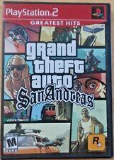 Grand Theft Auto San Andreas (Sony Playstation 2 PS2, 2004) GUARANTEED - GTA
