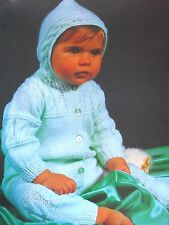 "1180 Baby Bambini Bambine DK cablati all-in-one suit 16-20"" VINTAGE Knitting Pattern"
